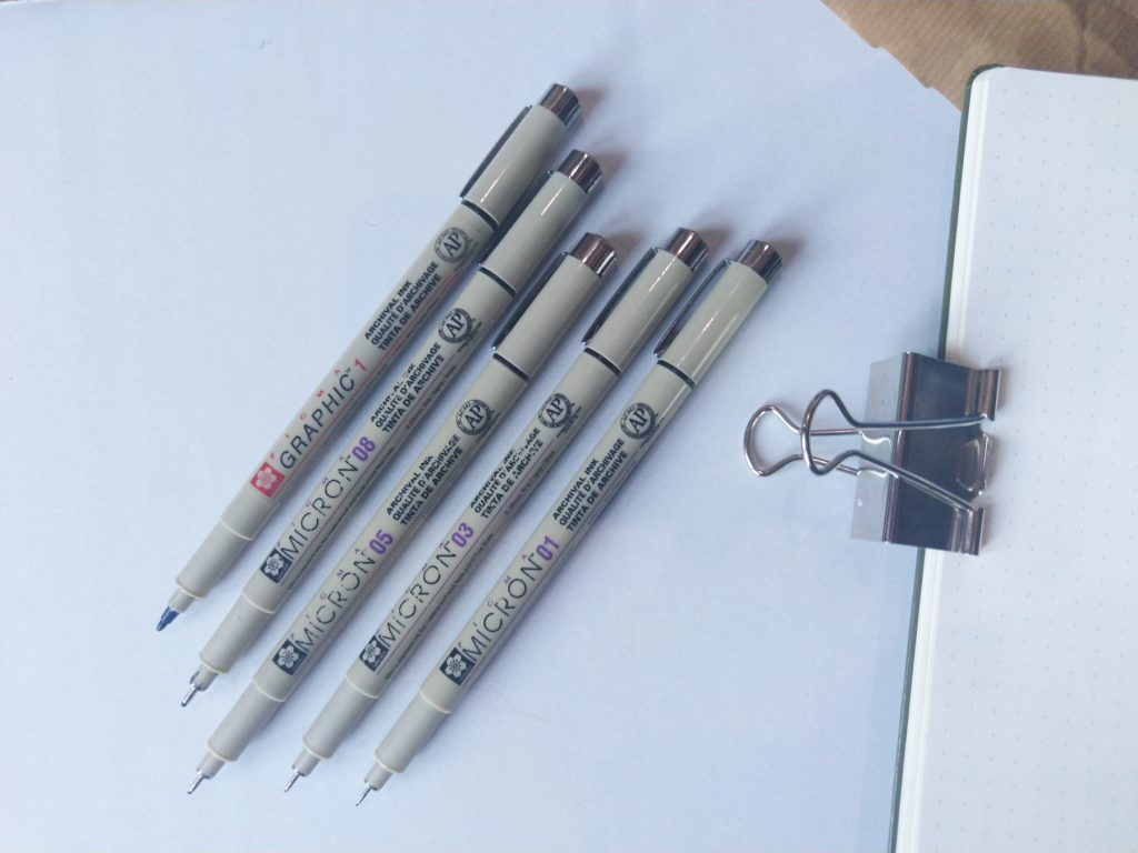 Bullet journal pennen Sakura Micron